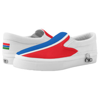 Gambia Flag -.png Slip On Shoes