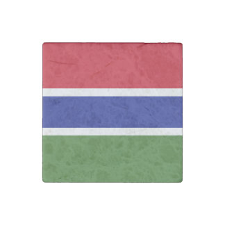 Gambia Flag Stone Magnet