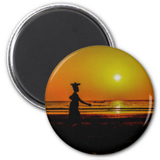 Gambia Sunset Magnet