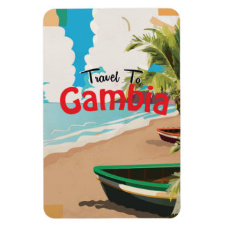 Gambia vintage travel poster magnet