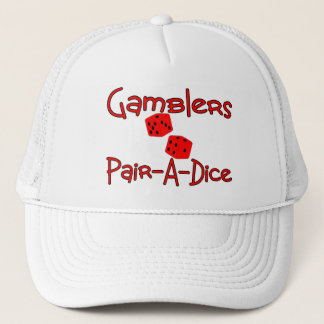 Gamblers Pair A Dice Trucker Hat