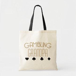 Gambling Grandpa Budget Tote Bag