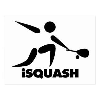 Game Of Squash iSquash Logo Postcard