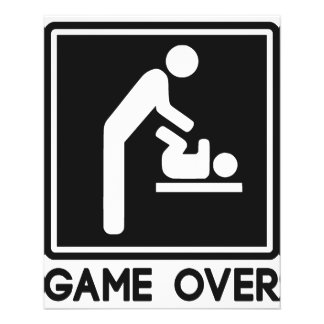 Game Over New Baby for Parent Dad Flyer