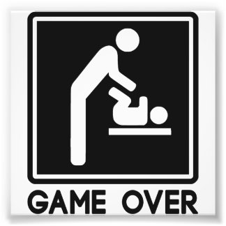 Game Over New Baby for Parent Dad Photo