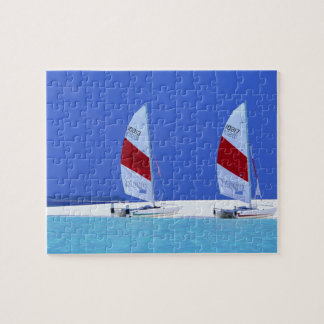 Game Puzzle-Tropical Beach Scene Jigsaw Puzzle