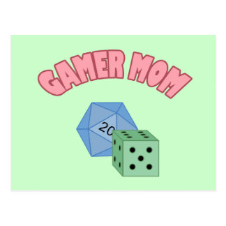Gamer Mom - Dice Postcard