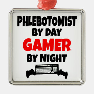 Gamer Phlebotomist Christmas Ornament