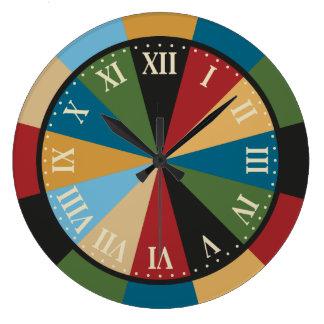 Games Room Dart Board Colorful Vintage Clock