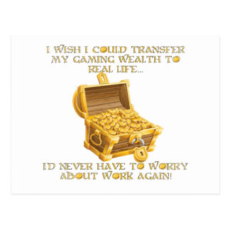 Gaming wealth postcard