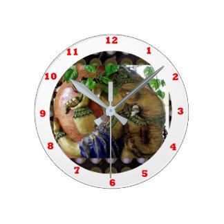 Ganapati Ganesh with Ganga Jal Vessel Round Clock