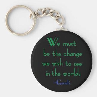 Gandhi Quote Keychain