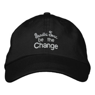 Gandhi Tour / Be the Change Embroidery Embroidered Hat