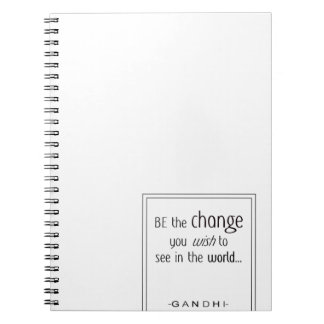 Gandi Quote Note Books