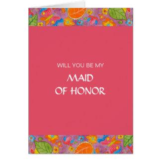Ganesh Be My Maid Of Honor Card