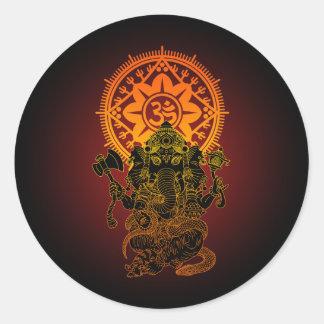 Ganesha 02 round sticker