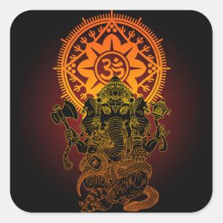 Ganesha 02 square sticker