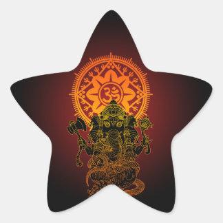 Ganesha 02 star sticker