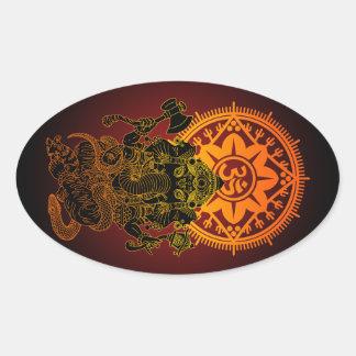 Ganesha 02 oval sticker