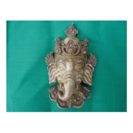 Ganesha Carving Postcard