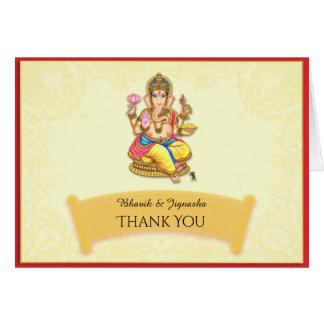 Ganesha Indian Wedding Thank You card
