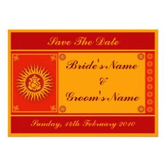 Ganesha Sign Save the Date Custom Invitation