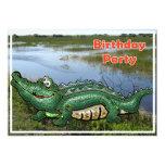 Gang Green Gator in the Glades Birthday Invitation 13 Cm X 18 Cm Invitation Card
