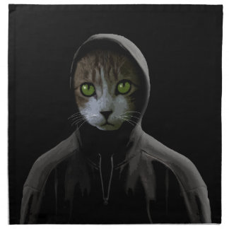 Gangsta cat napkin