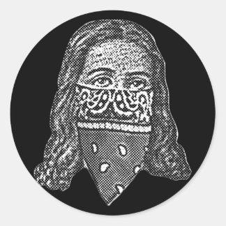 Gangsta Jesus Round Sticker