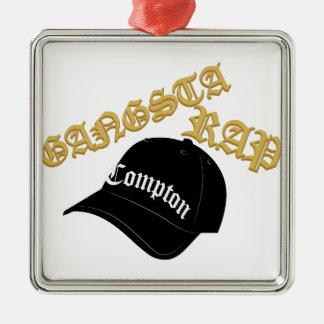 Gangsta Rap Christmas Ornament