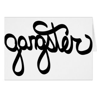 gangster-typography card