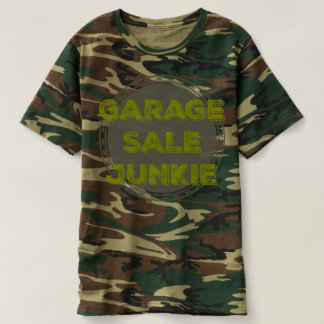 Garage Sale Junkie Army Camo Tee Shirt