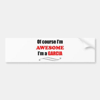 Garcia Awesome Family Bumper Sticker