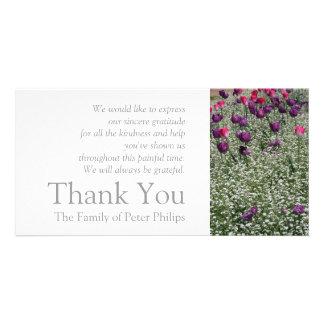 Garden 1- Tulips - Sympathy Thank You Photo Card 2