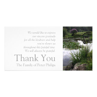 Garden 2 - Peaceful Pond - Sympathy Thank You 2 Photo Card