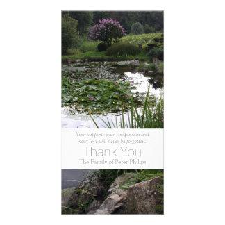 Garden 2 - Peaceful Pond - Sympathy Thank You -3 Photo Card