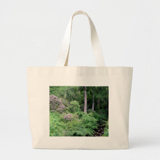 Garden and stream, highlands,Scotland Large Tote Bag