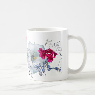 GARDEN BLUE AND MAGENTA COFFEE MUG