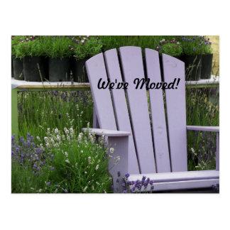 Garden Chair Photo Change of Address Postcard