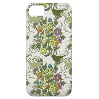 Garden Charm 5: birds blooms green yellow vintage iPhone 5 Case