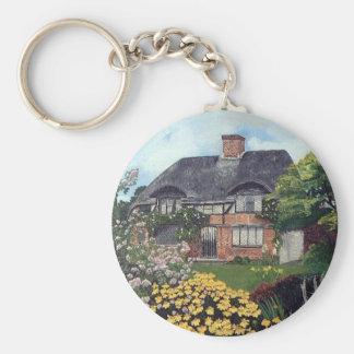Garden Cottage Basic Round Button Key Ring