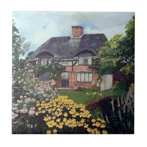 Garden Cottage Ceramic Tile