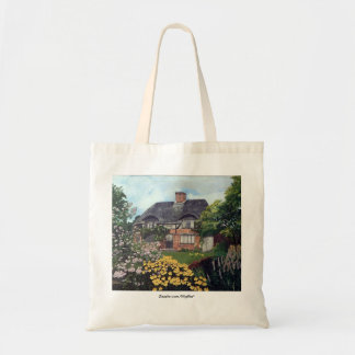 Garden Cottage Budget Tote Bag