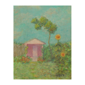 GARDEN COTTAGE Wood Wall Art Wood Canvas