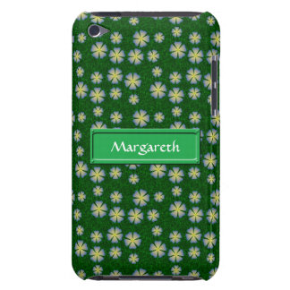 Garden flowers pattern with name iPod touch cover