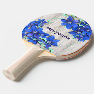 Garden Fresh Purple Clematis Flowers Ping Pong Paddle