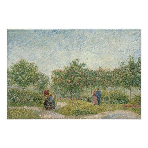 Garden in Montmartre with Lovers by Van Gogh Photograph