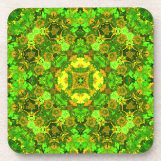 """Garden Inlay 2"" Mandala Coaster"