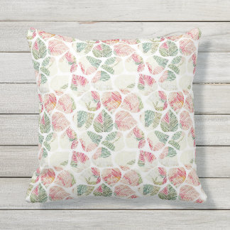 Garden Leaf Pattern Outdoor Pillow