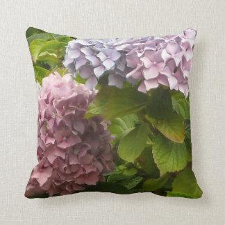 Garden of Hydrangeas Throw Pillow